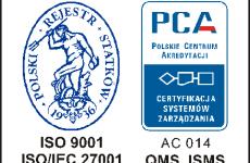 Więcej o: CERTYFIKAT ISO 9001:2015, ISO/IEC 27001:2013